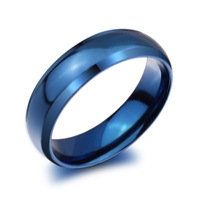 Vnox classic blue titanium ring stainless steel ring jewelry