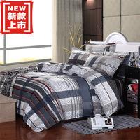 hot sale free shipping high quality 100%cotton brand logo bed sheet set bedclothes bedlinen quilt cover set bedding set