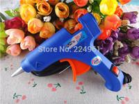 20W 100-240V Electric Heating Hot Melt Glue Gun Crafts Repair Tool Professional + 10pcs 7mm*200mm Glue Sticks 15010335