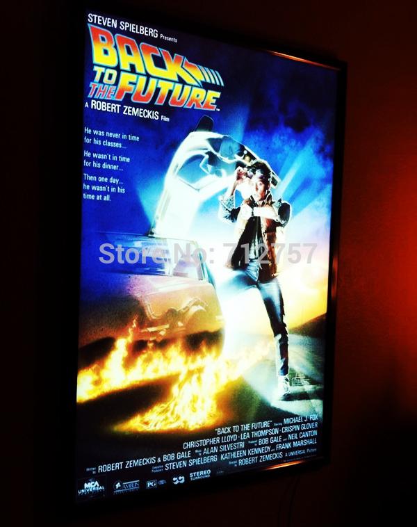 Movie posters framed lights