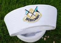 White Yacht Captain  Sailor Boat Marine cotton  Cap  white sailor hat Hat Costume Party New navy white hats