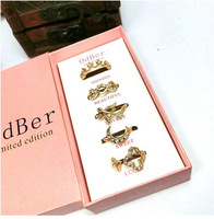 2015 Valentine's Day Hotselling Fashion Rings Set Include 5 Pieces Rings Packed With Original Boxes,fashion jewelry gift,J58