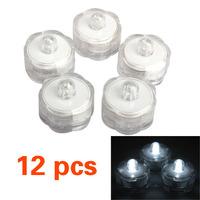 12x LED White Submersible Wedding Floralytes Decoration Light Waterproof V3NF
