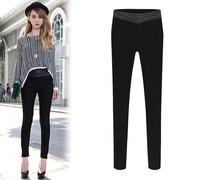2015 Fashion Women Jeans Denim Pencil Pants Woman Tight Pencil Jeans Straight Pants Trousers Woman Jeans Plus Size Black Pants