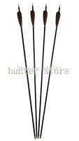 new offering!standard archery targeting 32'' fiberglass arrow fletched 5'' turkey feather screwing 100 grain arrow point 12pcs