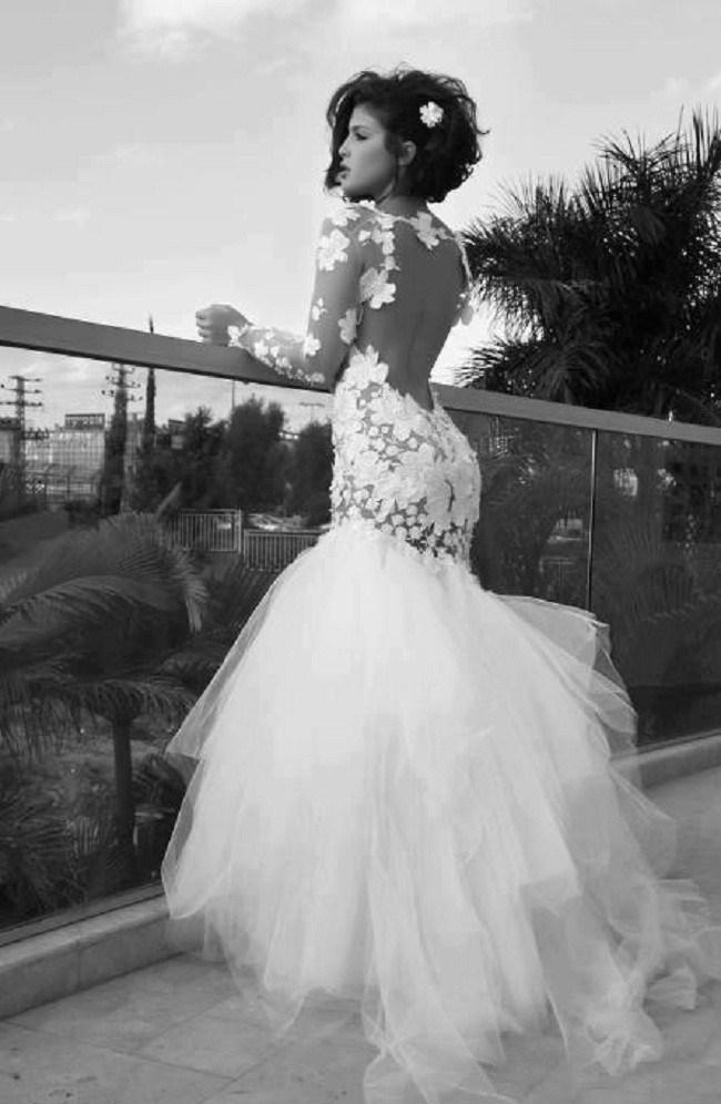 abiti da sposa sirena con maniche lunghe da Grossisti abiti da sposa ...