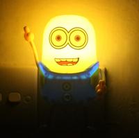 Child Gift Lamp Toy Minions LED Sleeping Lamp Energy Saving Light Lighting Control Wall Lamp Free Shipping