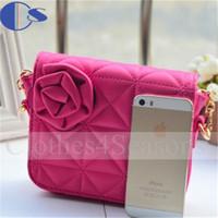 Lovely Latest Design Kids Girls Accessories PU Shoulder Bags For Child Designer High Quality 2015 Flower Mini Shoulder Bag Sac