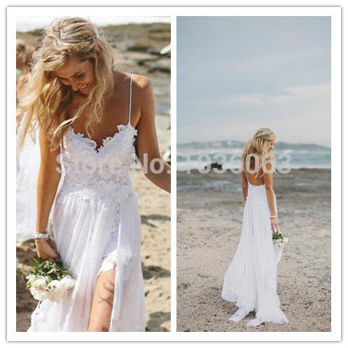 Aliexpress.com : 2015 sexy v Hals Hochzeit am Strand kleider ...