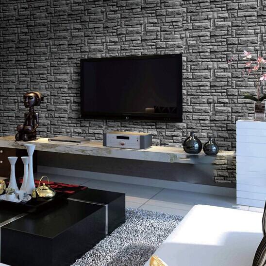 Abwaschbare Tapeten Aus Pvc : Brick Wallpaper Living Room