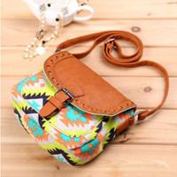 Fashion 2015 canvas flower print women handbag shoulder bags vintage small messenger ladies bags woman bolsa feminina termica