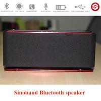 Sinoband X05 Hot sale bass small sound systems loud speaker creative handsfree bluetooth multimedia speaker parlantes ( Red )