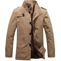 2013 New Arrival Korea Style Thicken Cotton Jacket, khaki\black\army , Free Shipping MWJ111