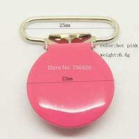 20pcs/lot,round top clip in hot pink color 25mm ribbon size wholesale Suspender Clip,Suspender Clips Suppliers & Manufacturer