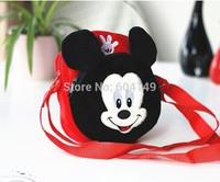 Red Mickey Animal Cartoon Face Bag Zip Coin Purse Wallet Messenger Sling Bags Shoulder Bag Boy Girl Kids Schoolbag