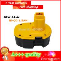 14.4V Ni-cd 1.5Ah Replacement Power Tool Battery for Dewalt  DC9091 DE9038 DE9091 DE9092  DW9091 DW9094 DE9094 ,yellow&black