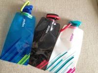 Luxury Black Environmental Cartoon Foldable Water Bottle Bag Portable Kettle Outdoor Sports Travel Bottles Free Shipping