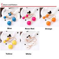 Jewelry accessories earring pearl dual stud earring earrings female accessories free shipping $10 mix order