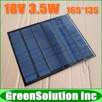 18V 3.5W 180mA High Quality Mini Polycrystalline Solar Panel Module Solar System Epoxy Battery Cell DIY Charge