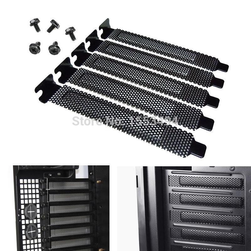 5pcs Standard ATX Case Vented PCI Slot Covers brackets Shield,free shipping(China (Mainland))
