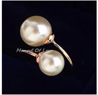 Italina Rigant Elegant Pearl Rings  Brand Adjustable Wome Rings Hot Sale