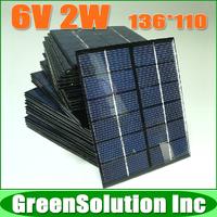 10PCS X 6V 2W 2W PV Cell Module, Mini polycrystalline solar Panel charge for LED Solar garden lamp Wall light spot lighting