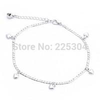 Anklet Ankle Bracelet Link Chain Alloy Heart Shape Elegant Gift