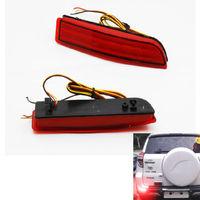 Details about 2PCS Red Lens LED Bumper brake Reflectors Light for Toyota Rav4 2006-2012
