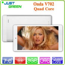 7 inch All winner A33 Android 4.4 Quad Core Brand Onda Tablet PC 512MB RAM 8GB ROM 2500mAh battery OTG Wifi  Bluetooth