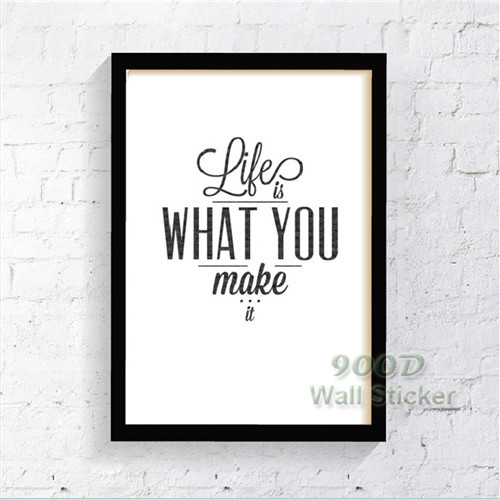 Life Quote Canvas Art Print Poster, Wall Pictures For Home Decoration ...