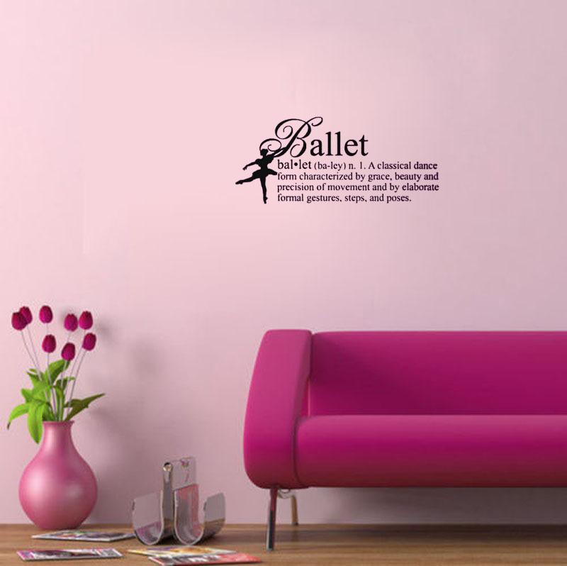 Ballet Definition Girls Dance wall decals vinyl stickers