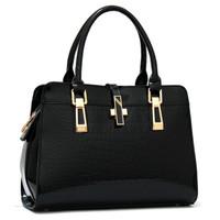 2015 New designer fashion faux leather Handbag Western style women alligator pu shoulder bags high quality messenger bag