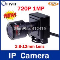 Sno 1280 * 720P 1.0MP mini IP Camera ONVIF 2.3 2.8-12mm manual varifocal zoom lens P2P Plug and Play With bracket