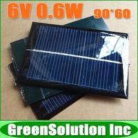 10PCS X 6V 0.6W 100mA Mini Solar Panel Module Solar System Epoxy Battery Cell Charger