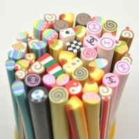 free shipping 50 pcs Fimo dessert Canes Rods Sticks Sticker Tips for DIY nail beauty also for phone MP3