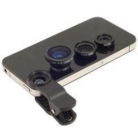 Universal Clip 3 in 1 Fish Eye Wide Angle Macro Fisheye Mobile Phone Lens For iPhone 6 5 5S 4 4S Samsung HTC Nokia Free Shipping