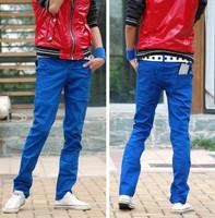 Men's Clothing Spring Teenage Fashion Cotton Skinny Trousers Slim Low Waist Casual Men Pants Pantalones Hombre