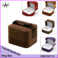 free shipping 1pc velvet single Proposal ring box jewelry box four colour for choose