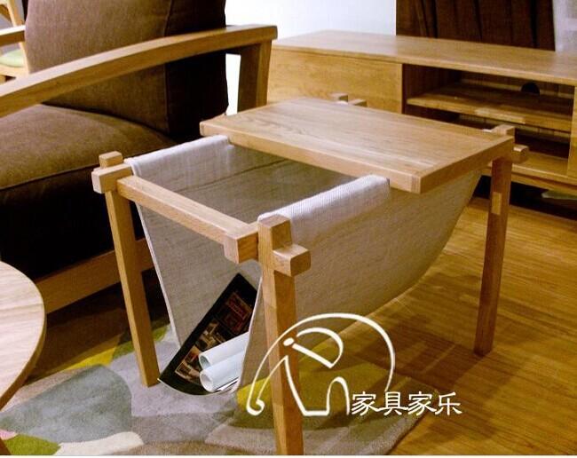 Japanese-style wood coffee table wood side a few corner a few wood sofa Side(China (Mainland))