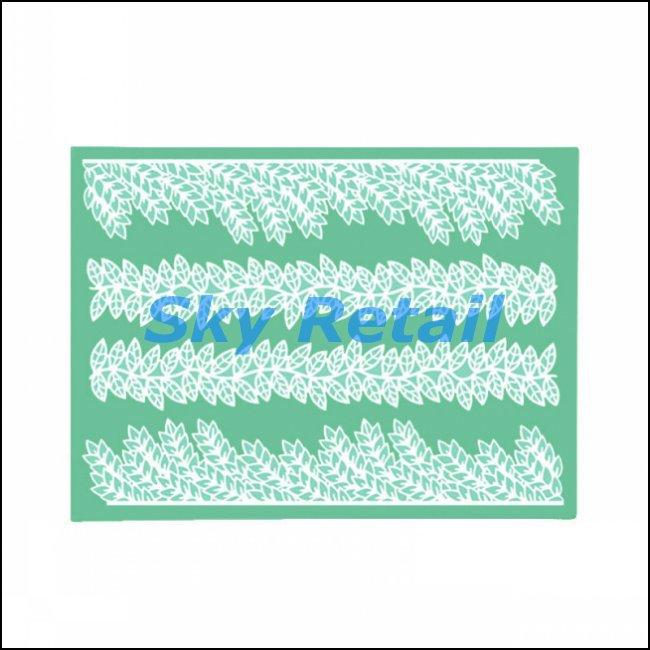 Big size leaves shape silicone lace cake decorating styling tools kitchen accessories fondant design(China (Mainland))