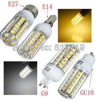 E27 9W SMD5050 AC 220V-240V 8 pcs LED chips Led Corn bulb Cold / Warm White 580LM 4 360 degree Spot light e27 led bulb