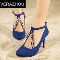 2015 New Red bottom high heels Women pumps Sexy Platform Rivets Hasp Handmade Wedding Fashion Brand Designer Party shoes