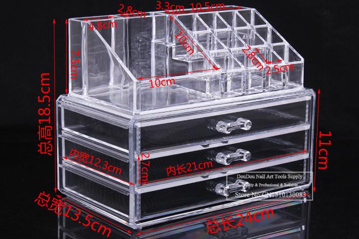 Acrylic Cosmetic Organizer Makeup Case Jewelry Storage Box Earrings Holder multi-function acrylic display rack(China (Mainland))