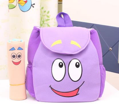 2014 novo estilo dora a explorar com mapa criança bebê dos desenhos animados mochila mochila de pelúcia miúdo escola sacos de desenhos animados(China (Mainland))