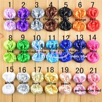 8cm High quality Soft Sequin Glitter Bow Hair Clip Baby Clip Mix color 50pcs/lot