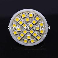 Free Shipping 10X MR16 4W 5050 SMD LED 24 LED Lamp Bulb 220V 240 Lm White/Warm White Light Bulb