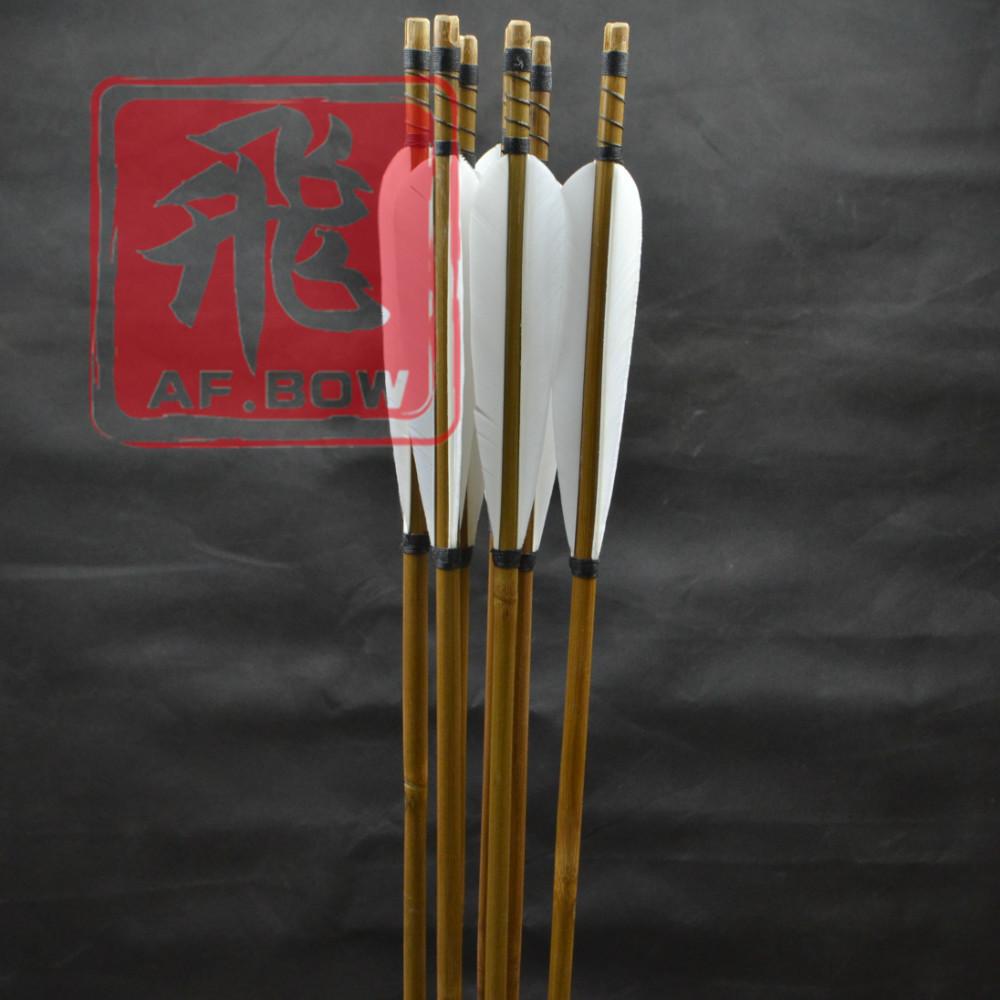 12pcs бамбука arrows.5'turkey перьев, целевой стрелки