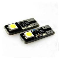 Free shipping 100pcs T10 w5w 2 SMD Canbus Car LED Light Bulbs White
