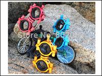 Free Shipping Fashion Colorful Shell Aluminum Multi-purpose Brackets Bicycle Light Torch Mount