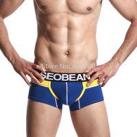 1400213 Free Shipping!Wholesale SEOBEAN Mans Boxers,Cotton Shorts,Do drop shipping!50pcs/lot.M L XL XXL,Mix Order.New Arriving!